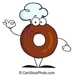Donut Cartoon Character