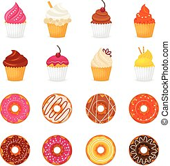 Donut cupcake icon