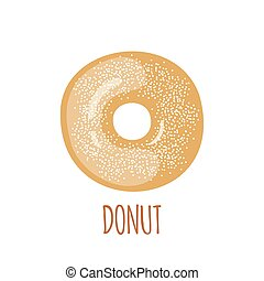 Donut icon on a white background.