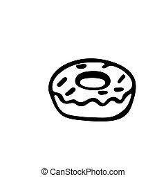 donut icon, vector illustration isolated on white background