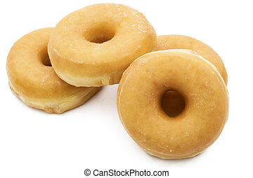 donut isolated in background white
