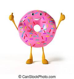 donut, karakter