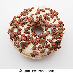 Donut on the white background