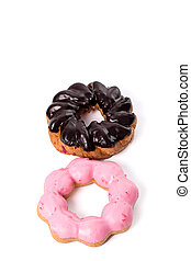 donut on white background
