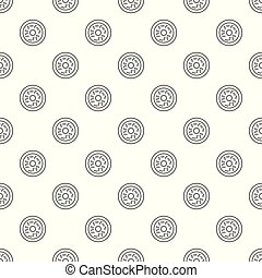 Donut pattern vector seamless