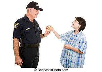 donut, per, poliziotto