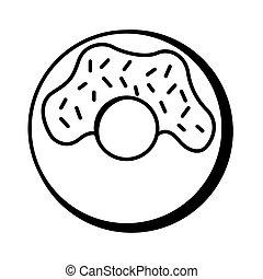 donut pop art line style