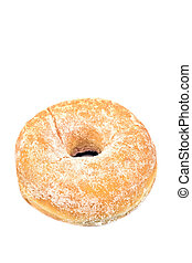 Donut powdered with sugar isolated on white