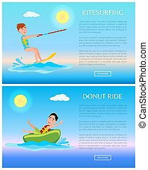 Donut Ride and Kitesurfing, Water Sports Poster