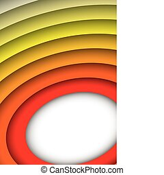 Donut ring background - Red to yellow abstract rainbow...