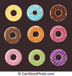 Donut seamless background texture pattern.