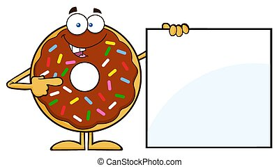 Donut Showing A Blank Sign