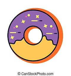 donut slang line and fill style icon