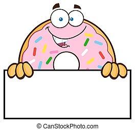 donut, sopra, spruzzatine, segno