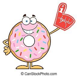 donut, sorridente, carattere