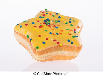 star shape donut on background - donut. star shape donut on...