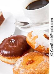 donut, und, bohnenkaffee