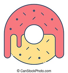 Donut vector, United state independence day related icon