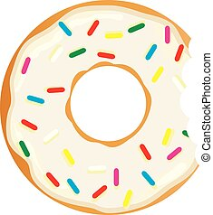 Donut - vector donut with teeth bite