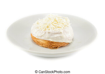 Donut white cream