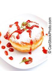 Donut with jam