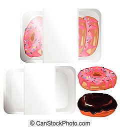 Donut with pink frosting