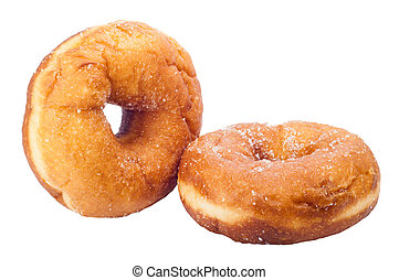Donut with sugar isolated on a white background