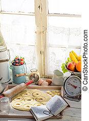 donuts , γευστικός , ηλιόλουστος , κουζίνα
