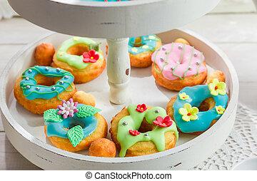 donuts , ηλιόλουστος , σπιτικά , κουζίνα