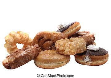 Donuts - A group of donuts isolated on white.