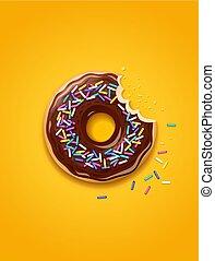 Donuts. American sweet dessert.