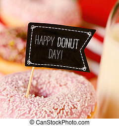 donuts and text happy donut day