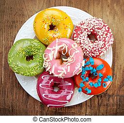 donuts, assado