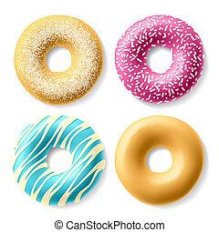 donuts, bunte