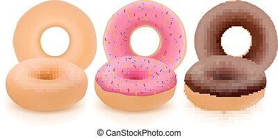 donuts, colorito
