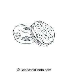 Donuts Hand Drawn Sketch