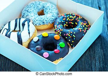 donuts in white box