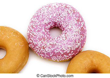 donuts isolated in background white