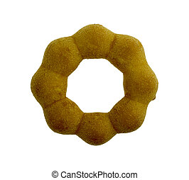 donuts isolated on white background. Top view.