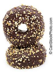 donuts, isolato, in, fondo, bianco