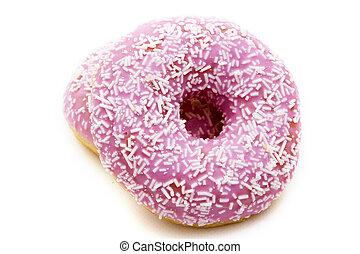 donuts, isolerat, in, bakgrund, vit