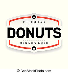 Donuts label sign vintage