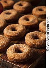donuts, morno, sidra, maçã