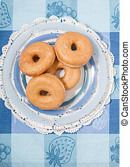 Donuts on a plate