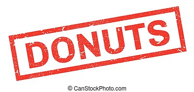 Donuts rubber stamp