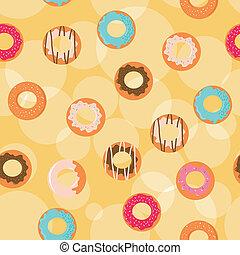 donuts, seamless, hintergrund