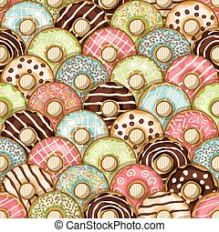 donuts seamless pattern - vector illustration. eps 10
