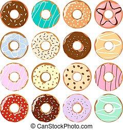 donuts, set., colorito