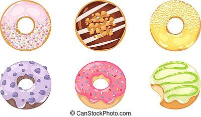 donuts, set., vettore