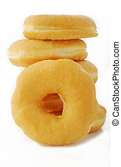 donuts, sfondo bianco